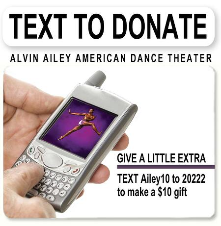 alvin ailey text to donate